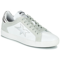 Zapatos Mujer Zapatillas bajas Meline KUC256 Blanco / Plateado / Cebra