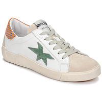 Zapatos Mujer Zapatillas bajas Meline NK1364 Blanco / Verde