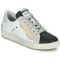 Zapatos Mujer Zapatillas bajas Meline NKC139 Blanco / Glitter / Negro