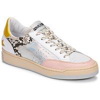 Zapatos Mujer Zapatillas bajas Meline BZ180 Blanco / Rosa