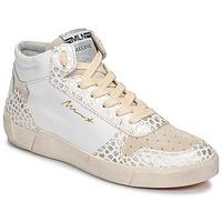Zapatos Mujer Zapatillas altas Meline NK1409 Blanco / Cocodrilo
