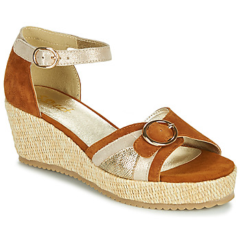 Zapatos Mujer Sandalias Sweet ESTERS Oro / Camel