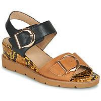 Zapatos Mujer Sandalias Sweet ETOXYS Negro / Camel
