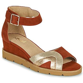 Zapatos Mujer Sandalias Sweet ETUVESS Burdeo / Oro