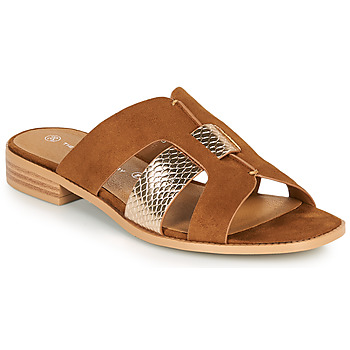 Zapatos Mujer Zuecos (Mules) The Divine Factory QL4335 Camel / Oro