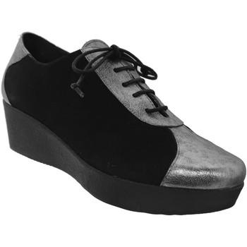Zapatos Mujer Derbie Brenda Zaro FZ1096 Negro/Plata