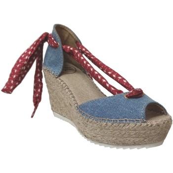 Zapatos Mujer Sandalias Toni Pons LARISA-J Lienzo azul/rojo