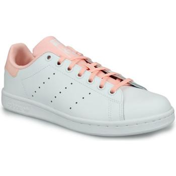 Zapatos Niña Zapatillas bajas adidas Originals Adidas Stan Smith J Blanc Blanco