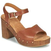 Zapatos Mujer Sandalias Unisa TACO Camel