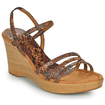 Zapatos Mujer Sandalias Unisa RENERA Marrón / Serpiente