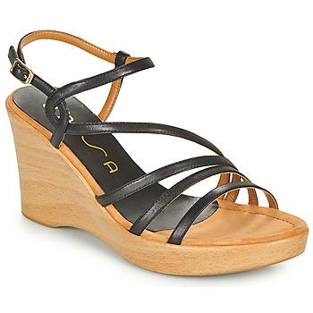 Zapatos Mujer Sandalias Unisa RABAL Negro