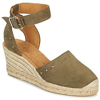 Zapatos Mujer Sandalias Unisa CLIVERS Kaki