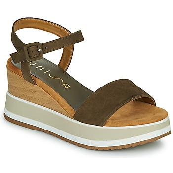 Zapatos Mujer Sandalias Unisa KOLLA Kaki