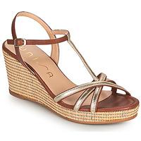 Zapatos Mujer Sandalias Unisa LLINAR Oro