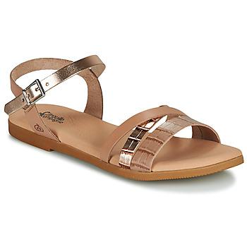Zapatos Niña Sandalias Citrouille et Compagnie OBINOU Tan / Oro