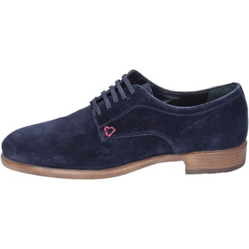 Zapatos Hombre Derbie Triver Flight Elegantes Gamuza Azul