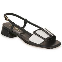 Zapatos Mujer Sandalias Fericelli PANILA Negro / Blanco