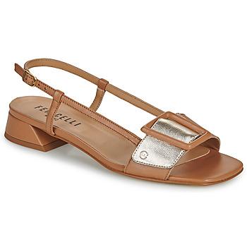 Zapatos Mujer Sandalias Fericelli PANILA Camel / Oro