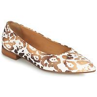 Zapatos Mujer Bailarinas-manoletinas Fericelli SELENA Blanco / Oro