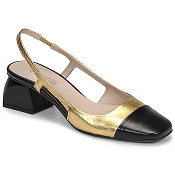 Zapatos Mujer Zapatos de tacón Fericelli TOUBET Oro / Negro