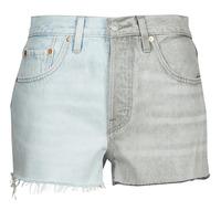 textil Mujer Shorts / Bermudas Levi's ICE BLOCK Azul / Gris