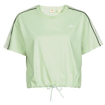 textil Mujer Camisetas manga corta Levi's GINGER NYLON PIECED TEE BOK CHOY, TOFU & CAVIAR Blanco