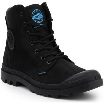 Zapatos Hombre Botas de caña baja Palladium Manufacture Pampa Cuff WP LUX 73231-001-M negro