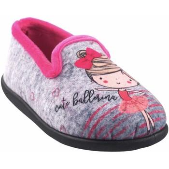 Zapatos Niña Pantuflas Ne Les Ir por casa niña NELES 4325.144 fuxia Gris