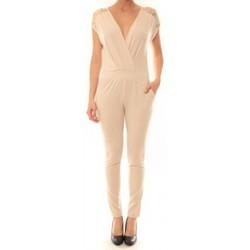 textil Mujer Monos / Petos La Vitrine De La Mode Combinaison 155 By La Vitrine Beige Beige
