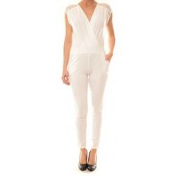 textil Mujer Monos / Petos La Vitrine De La Mode Combinaison 155 By La Vitrine Blanche Blanco