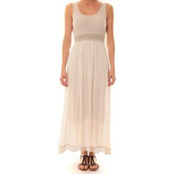 textil Mujer Vestidos largos La Vitrine De La Mode Robe Z1392 By La Vitrine Beige Beige