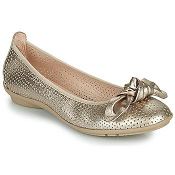 Zapatos Mujer Bailarinas-manoletinas Hispanitas CAPRI Oro