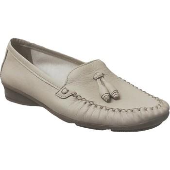 Zapatos Mujer Mocasín Marco GIL CUIR Beige