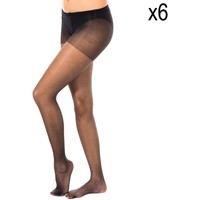 Ropa interior Mujer Medias Marie Claire Pack-6 Panty Stop Carreras 15 Den Negro
