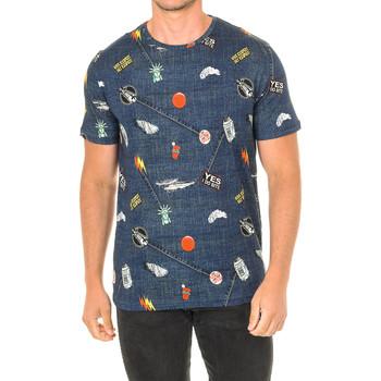 textil Hombre Camisetas manga corta John Frank Camiseta de manga corta Azul