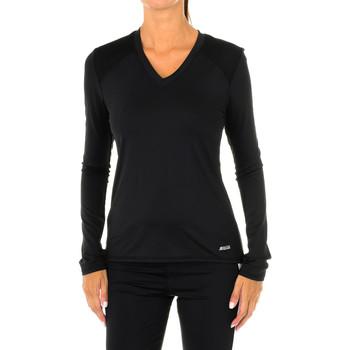 textil Mujer Camisetas manga larga Shock Absorber Camiseta de manga larga Sport Negro