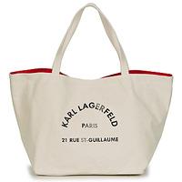Bolsos Mujer Bolso shopping Karl Lagerfeld RUE ST GUILLAUE CANVAS TOTE Crudo