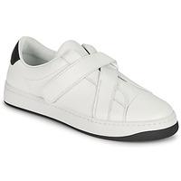 Zapatos Mujer Zapatillas bajas Kenzo ENZO KOURT SCRATCH SNEAKERS Blanco