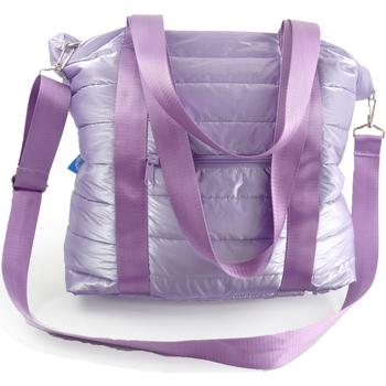Bolsos Mujer Bolso para llevar al hombro Nuvola. Bolso de mano NUVOLA®. Totebag Apolo. LT.Purple