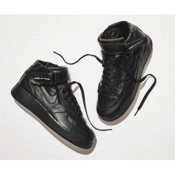 Zapatos Zapatillas altas Nike Air Force 1 high x Comme des Garçons  BLACK/BLACK-WHITE-BLACK