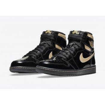 Zapatos Zapatillas altas Nike Jordan 1 Black Metallic Gold Black/Black-Metallic Gold