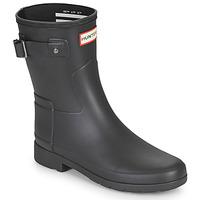 Zapatos Mujer Botas de agua Hunter ORIGINAL REFINED SHORT Negro