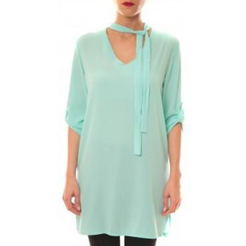 textil Mujer Vestidos cortos La Vitrine De La Mode Robe 156 By La Vitrine Aqua Azul