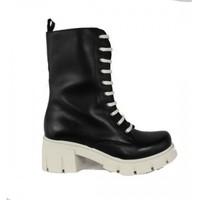 Zapatos Mujer Botas urbanas True Heart BOTA 9 OJETES CON PISO TRACK COLORES DE Blanco