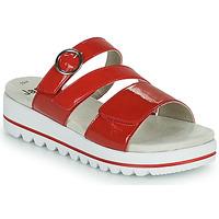 Zapatos Mujer Zuecos (Mules) Jana JANITA Rojo