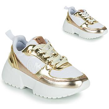 Zapatos Niña Zapatillas bajas MICHAEL Michael Kors COSMO SPORT Blanco / Oro