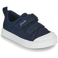 Zapatos Niños Zapatillas bajas Clarks CITY BRIGHT T Marino