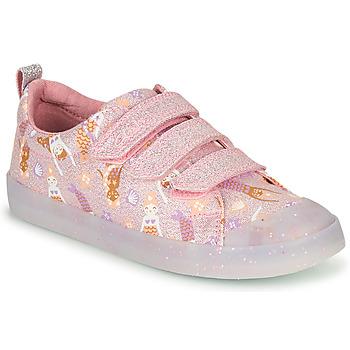 Zapatos Niña Zapatillas bajas Clarks FOXING PRINT T Rosa