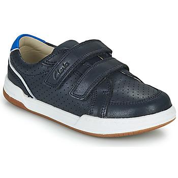 Zapatos Niños Zapatillas bajas Clarks FAWN SOLO K Marino
