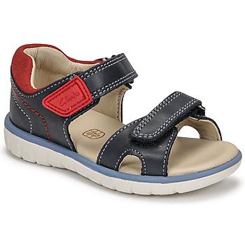 Zapatos Niños Sandalias Clarks ROAM SURF K Marino / Rojo